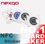 13.56MHz autos-adhesivo modifican Hf Ntag213, Ntag216 &#160 de la impresión para requisitos particulares; Etiqueta engomada de NFC
