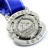 シンガポール記念品のための旧式な楕円形のShape DemiマラソンDe Run Contestのスポーツメダル