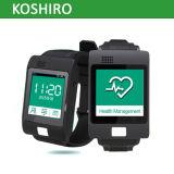 Reloj elegante de la salud del GPS del monitor de la presión arterial del ritmo cardíaco de ECG con llamada el SOS