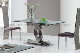 食堂のためのChanelの形のステンレス製の基礎ダイニングテーブル