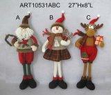 Het Speelgoed van de Decoratie van Kerstmis van het Rendier van de Sneeuwman van de kerstman