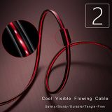 Cable de carga del LED de la iluminación del OEM de la longitud de los datos móviles coloridos populares del USB