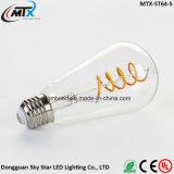 명확한 유리제 온난한 백색 고대 Retro LED Edison 포도 수확 빛