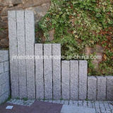 G603, Gris Granito, Pineappled Natural Splited Bushharmmered Granito Palisade Kerbstone