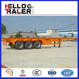 40FT Skeleton Behälter-Schlussteil-Flachbettbehälter-Schlussteil-Chassis mit 13 Tonnen Kapazitäts-Wellen-