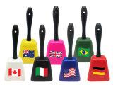 Cowbells all'ingrosso per gli eventi sportivi con il marchio delle bandierine di paese