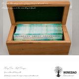 Hongdao 카드 편지 사진 Toys_E를 위한 나무로 되는 선물 수송용 포장 상자