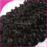 巻き毛のカンボジアのバージンの毛の拡張毛のよこ糸