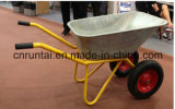 Het zink plateerde de Op zwaar werk berekende Duurzame Kruiwagen van het Wiel