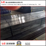 Tubo de acero rectangular negro engrasado con la tela impermeable