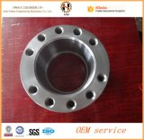 Фланец стали углерода материальный A105n CNC вковки подвергая механической обработке