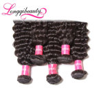 Nenhum derramamento de nenhum cabelo Curly profundo barato brasileiro do Virgin do emaranhado