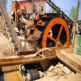 Arandela de la arena y de la arcilla con la rafadora del mineral