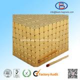 常置NdFeBの磁石の立方体に塗る10X10X10高精度の金