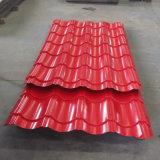 Продукты строительного материала стальные настилая крышу лист гофрированный листом гальванизированный стальной