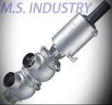 Válvula de inversão pneumática sanitária do aço inoxidável