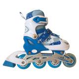 PVC Whellsカートンの青いインラインスケート
