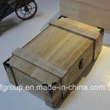 Rectángulo de madera modificado para requisitos particulares diseño clásico respetuoso del medio ambiente para el vino del almacenaje
