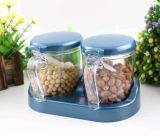 Potenciômetro plástico do tempero do Kitchenware do armazenamento
