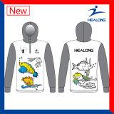 Preiswerte Sublimationkundenspezifische Großhandelsmens-Team-Fischenjerseys-Hemden