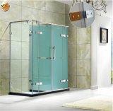Pièce de douche à la mode de pièce jointe de douche de rectangle de verre trempé de la Chine