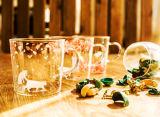 Tazza di vetro di Borosilicate di disegno del fiore di Janpanese