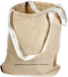 I prodotti dell'OEM hanno personalizzato il sacchetto di mano promozionale stampato marchio del mestiere del Tote della tela di canapa del cotone