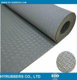 Зеленый Anti-Slip широкий & точный Ribbed резиновый лист