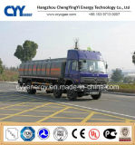 China LNG Liquid Oxygen Tank Car Semi Trailer mit ASME