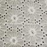 アフリカの水溶性の綿の刺繍のレースファブリック(BL08)