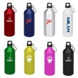Botella de agua de aluminio del deporte con diseño de encargo de la insignia