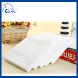 100%年の綿28cmx28cmの白いタオル(QHH69322)