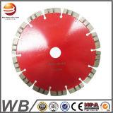 La circular soldada laser del diamante vio la lámina para el concreto del corte