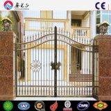 Puerta de acero modificada para requisitos particulares de la cerca de la antigüedad barata del hierro labrado para la venta
