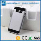 Cubierta del teléfono móvil del satén del cepillo para la galaxia J7 de Samsung