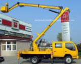 Carro doble de la operación de la mucha altitud de la casilla de Sinotruk con la plataforma aérea del compartimiento