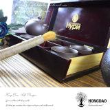 Taza de té de Hongdao pila de discos el rectángulo de madera con insignia modificada para requisitos particulares