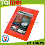 40GSM bâche de protection chaude orange de PE de ventes du ~ 300GSM pour le revêtement