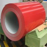 0.6*800m m Seel la bobina de acero galvanizada prepintada cubierta color de los productos