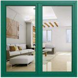 Qualitäts-Doppeltes glasig-glänzendes grüne Farben-Aluminiumflügelfenster-Glasfenster mit deutschen Roto Befestigungsteilen (ACW-070)