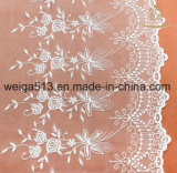 Jacquardwebstuhl-Spitze-Gewebe-Ineinander greifen-Gewebe für Rayon-Spitze-Gewebe der Kleidungs-Ivory Blumen-3D