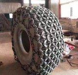 トラックの幼虫の車輪のローダーのためのタイヤの保護鎖