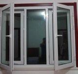 Do Casement aberto do PVC do balanço indicador de vidro personalizado para a casa residencial (PCW-040)
