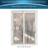 Цветастые алюминиевые декоративные раздвижные двери для нутряного украшения
