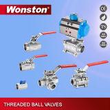 Vávula de bola de tres maneras con el postizo de montaje ISO5211 1000wog
