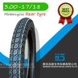 Neumático 3.00-17 de la motocicleta de los recambios de la motocicleta