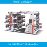 6つのカラーフレキソ印刷の印刷機械装置