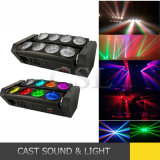 8 * 10W LED blanche à tête mobile Spider Beam DJ Light