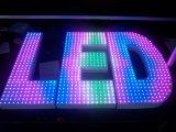 스테인리스 LED 표시 다채로운 장식적인 알파벳 편지
