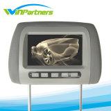 Moniteur de voiture Ecran numérique 7 pouces à écran LCD Moniteur de repose-tête de voiture Gris Noir Geige 2 Entrée vidéo
